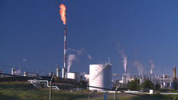 HD2008 8 1 48 gas plant and flare Stock Video Footage