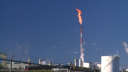 HD2008-8-1-52 gas plant and flare Stock Video Footage