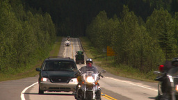 HD2008-8-2-2 Mtn highway traffic Stock Video Footage