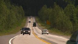 HD2008-8-2-2 Mtn highway traffic Stock Video Footage