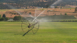 HD2008-8-2-40 farm sprinkler Stock Video Footage