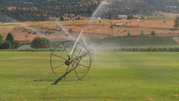 HD2008-8-2-40 farm sprinkler Stock Video Footage