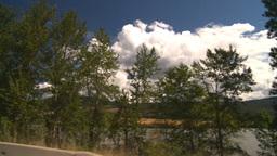 HD2008-8-2-60 drive okanagan lake Stock Video Footage