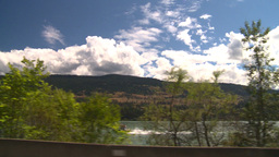 HD2008-8-2-66 drive okanagan lake Stock Video Footage