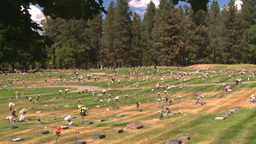 HD2008-8-3-11 cemetary Stock Video Footage
