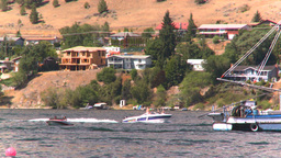 HD2008-8-3-19 Okan Lake motorboats Stock Video Footage
