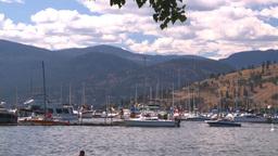 HD2008-8-3-21 Okan Lake marina Stock Video Footage