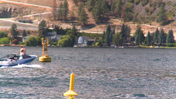 HD2008-8-3-23 Okan Lake motorboats Stock Video Footage