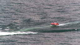 HD2008-8-3-31 Okan Lake motorboat rubber tube Stock Video Footage