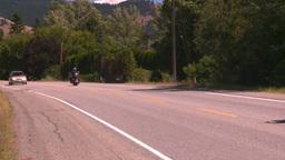 HD2008-8-4-62 motorbikes on highway Stock Video Footage