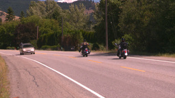 HD2008-8-4-62 motorbikes on highway Stock Video Footage