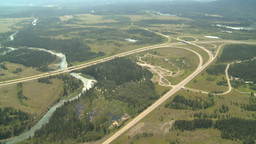 HD2008-8-5-8 aerial TCH river Stock Video Footage