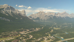 HD2008-8-5-18 aerial mountains canmore Stock Video Footage