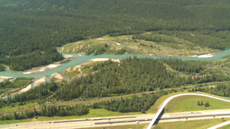 HD2008-8-5-22 aerial TCH river Stock Video Footage