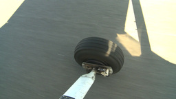 HD2008-8-5-38 aerial taxi wheel runway Stock Video Footage