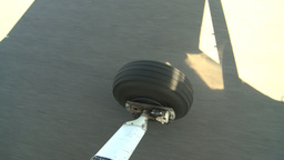 HD2008-8-5-38 aerial taxi wheel runway Footage