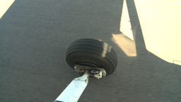 HD2008-8-5-38 aerial taxi wheel runway Stock Video Footage