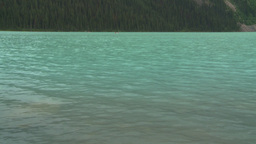 HD2008-8-6-11 Lake Louise canoe distant Stock Video Footage
