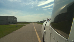 HD2008-8-7-2 taxiway Cessna Stock Video Footage