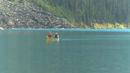 HD2008-8-7-4 canoe Moraine lake Stock Video Footage