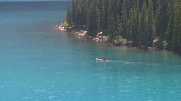 HD2008-8-7-13 canoe Moraine lake Stock Video Footage