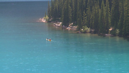 HD2008 8 7 14 canoe Moraine lake Stock Video Footage
