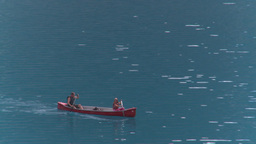HD2008-8-7-16 canoe Moraine lake Stock Video Footage