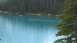 HD2008-8-7-20 canoe Moraine lake Stock Video Footage