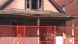 HD2008-8-8-2 arson house Z Stock Video Footage