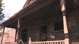 HD2008-8-8-6 arson house 2shot Stock Video Footage