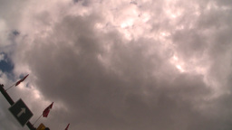 HD2008-8-8-14 TL drive up DT buildings clouds Stock Video Footage