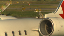 HD2008-8-9-4 jets engine coasting Stock Video Footage