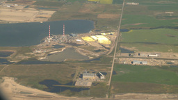 HD2008-8-9-10 737 aerial sulfer plant Stock Video Footage