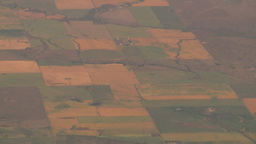 HD2008-8-9-18 737 aerial chequer board farms Stock Video Footage