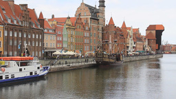 View on the aquatic promenade in Gdansk 5 Footage