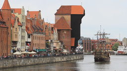 Gdansk, Poland. View of Motlawa river Footage