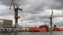 Gdansk shipyard (Polish: Stocznia Gdanska). Poland Footage