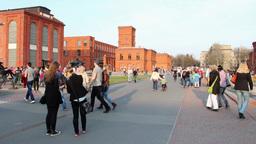 Manufaktura, Lodz, Poland. Large Shopping Center stock footage