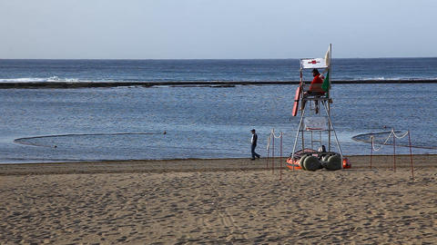 Lifeguard at Beach of the Canteras Live Action