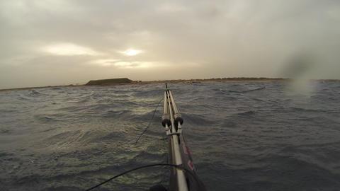 Spear fisherman spearfishing underwater Footage