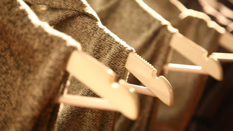 Clothes hang on hanger Haute Couture top fashion Footage
