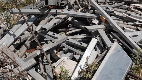 Metal scrap, ideal for recycling Footage