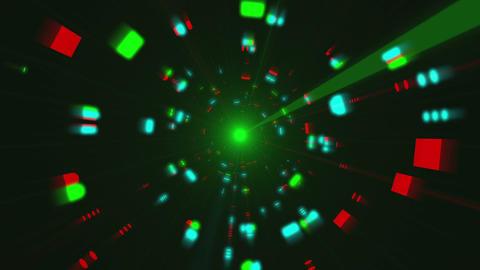 Futuristic Light Tunnel Flight 1 Videos animados