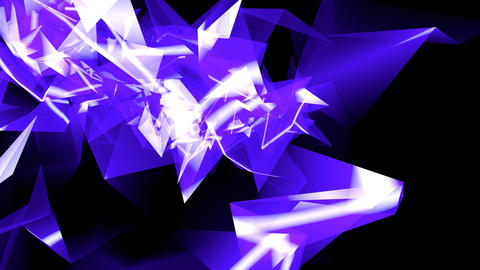 4k Abstract blue glass fragment curve&laser ray,flowing digital wave backgro Footage