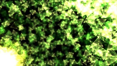 Rotating Pyramids Animation - Loop Green Animation