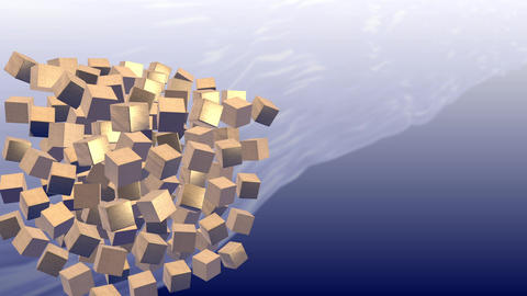 GOLD Cube lotation CG動画
