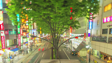 Timelapse From Tachikawa Station,in Tokyo,Japan stock footage