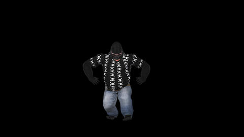 Dancing Gorilla - Solo - 2 - VJ Loop - Alpha Animation