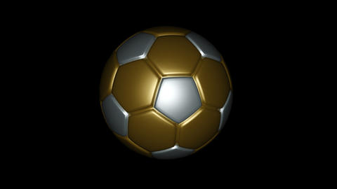 Soccer Ball - Metallic - Loop - Alpha stock footage