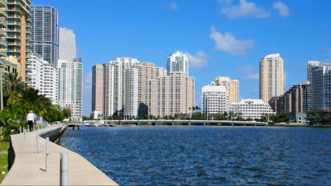 Brickell Island stock footage